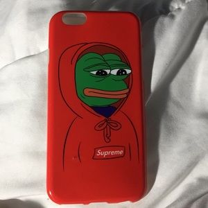 A frog with a supreme hoodie iPhone 6